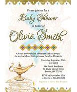 Arabian Nights Baby shower Invitation Gold Baby shower Invitation - $0.99