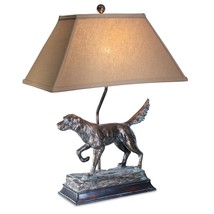 Hunting Dog Lamp English Irish Setter Retriever Rustic Cabin Lodge Decor - $119.00