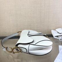 NEW AUTH Christian Dior 2019 White Medium Saddle Trotter Saddle Shoulder Bag image 6