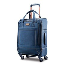 """Expandable 21"""" Spinner Luggage Wheeled Suitcase Travel Carry On Denim Je... - $111.49"""