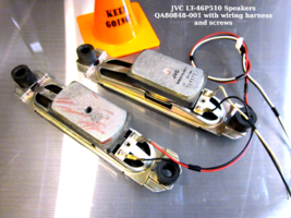 JVC LT-46P510 Speakers QA80848-001 with mounts wiring harness and screws - $15.95