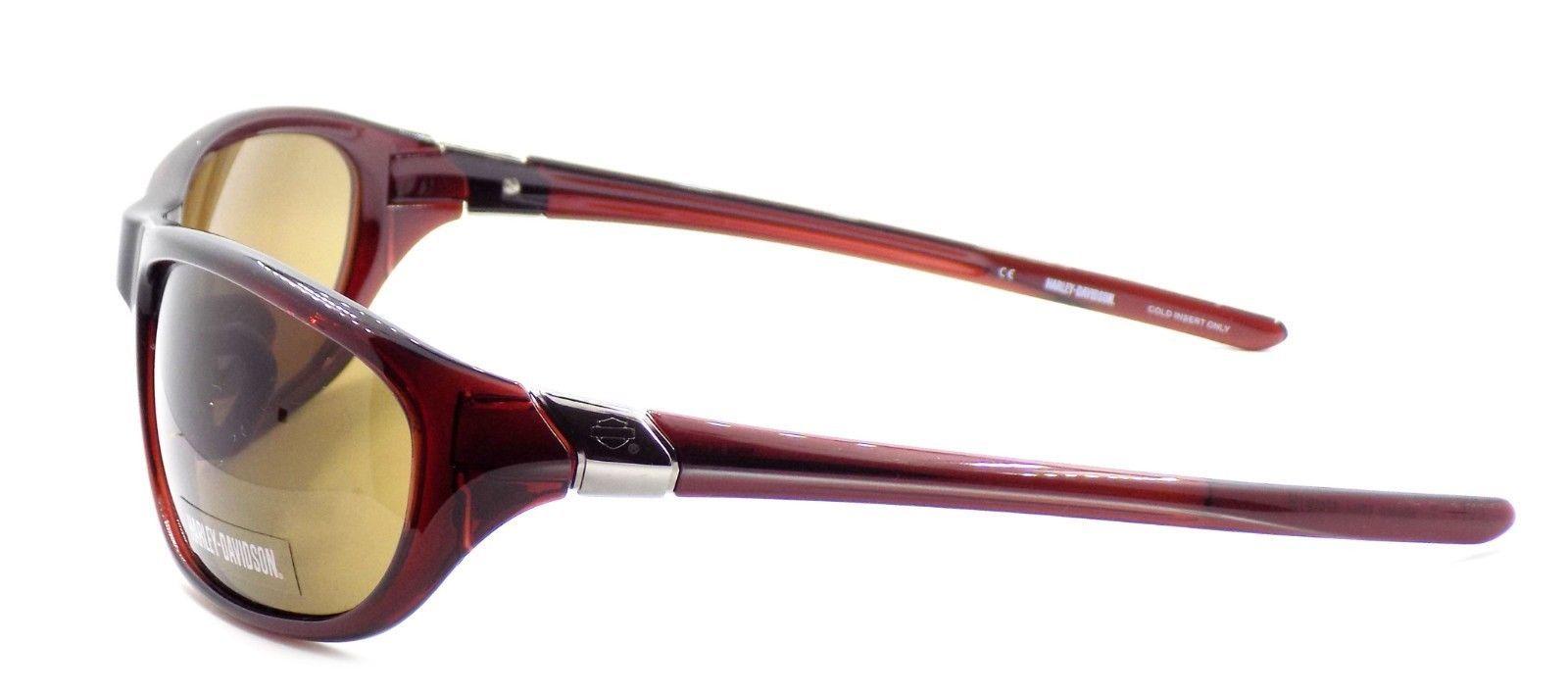 Harley Davidson HDX862 BRN-1 Wraparound Sunglasses Brown 67-19-135 Brown Lens