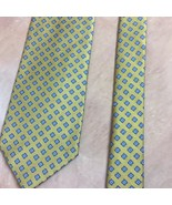 Brooks Brothers GOLD Neck Tie Golf Blue Pattern Pure Silk 3.5 Width Made... - $20.53