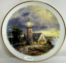 2003 Thomas Kinkade Plate - A Light In The Storm - Lighthouse - $10.84