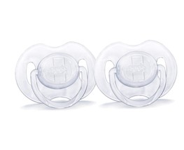 Philips AVENT Translucent Orthodontic Infant Pacifier, Clear, 0-6 Months, 2 - $7.75