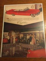 "1956 Cadillac convertibe Photo Print Original Magazine Ad  10.75""x14' - $5.65"
