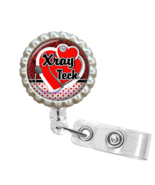 Red X-Ray Tech Retractable Reel ID Name Tag Badge Holder - 1.3 - $10.00