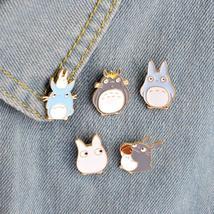 5pcs/set Childhood Cartoon My Neighbor Lovely Totoro Chinchilla Brooch Button Pi - $6.99