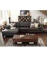 STANTON Living Room Furniture Brown Faux Leather Couch Sofa Chaise Secti... - $1,265.78