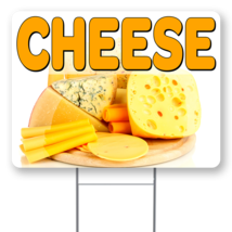 """Cheese  24"""" x 18"""" Double Sided Road Yard Sign: Heavy Duty Stake - $35.00"""