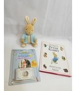 Adventures of Peter Rabbit by Beatrix Potter Book music cassette Toy plu... - $25.05