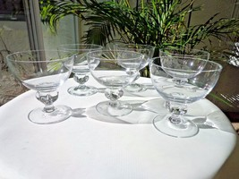 Set of 6 Seneca Savoy Pattern Clear Crystal Liquor Glasses - $42.56
