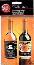 6 Halloween Bottle Labels Stickers Wicked Remedy Bat Juice by Wilton - $5.93