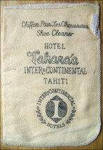 Chiffon Pour Les Chaussures SHOE CLEANER--From Hotel Tahara TAHITI - $6.43