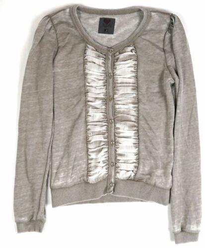 Small Women's Luv 4 Anouka Cardigan Vintage Button-down French Terry Sweater