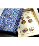 Prism by Noir gift box set of 3 pair of stud earrings Rose gold color & ... - $24.75