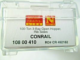 Micro-Trains # 10800410 Conrail 100-Ton 3-Bay Open Hopper with Topper N-Scale image 6