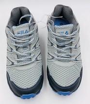 NEW Fila NORTHAMPTON Grey Light Blue Trail Sneakers New Womens Shoes image 2