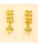 18k gold beads  earring from Thailand #23 - $197.01