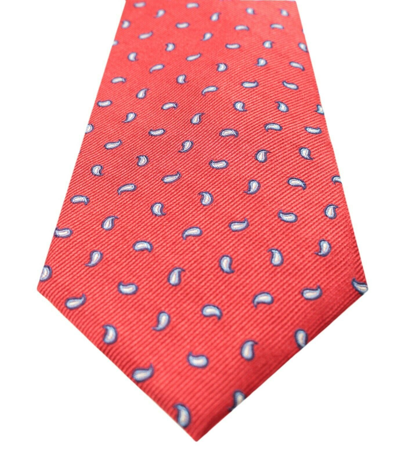 NEW MENS CLUB ROOM ESTATE NECKWEAR CLASSIC PINE RED PAISLEY SILK NECK TIE $52