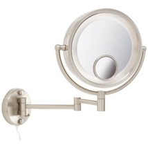Jerdon HL8515N Lighted Wall Mount Makeup Mirror with 7x and 15x Magnific... - $76.99