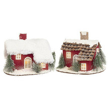 Darice Christmas House Decor: 8.66 x 7.09 inches, 2 Assorted Styles w - $24.99