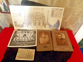 LOT of 5 Antique Military Photos - $49.50