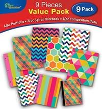 GENERATION - 2 Pocket Folder Pattern 9/PC School Value Pack, Heavy Duty ... - $45.84 CAD