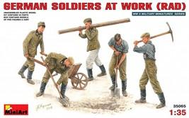 Miniart Models - 35065 - German Soldiers At Work (RAD) - 1/35 - $15.99