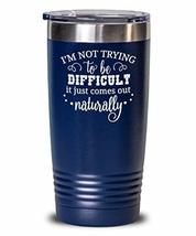 Custom Metal Insulated Water Tumbler Funny Sarcasm Gift for Mom - $24.69