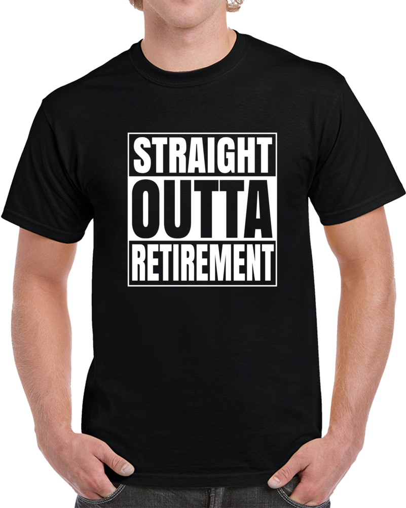 Primary image for Straight Outta Retirement Old Age Retired Mens Hip Hop Compton T Shirt