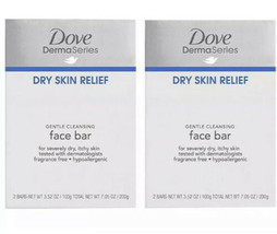 Dove DermaSeries Dry Skin Gentle Cleansing Face Bar Soap - 2 boxes  (4 bars) - $12.50