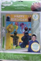 Sesame Street Elmo Wall Decorating Kit Scene Setter 5 Pc Happy Birthday ... - $12.86