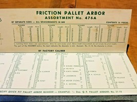 Vintage Quick Fit Watch Pallet Arbor Assortment #476A Jewelers Watchmakers - $29.95