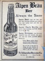 1911 St. Louis Alpen Brau Beer Newspaper Ad - $9.99