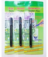 3xs Bakenote Tester Pen Money Checker Currency Detector Counterfeit Mark... - $14.03