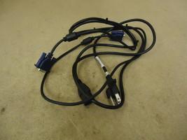 Standard DVI Cable & Power Cord Black/Blue Power Cord 6ft DVI 5ft - $10.55