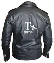 Grease 2 Fancy Dress John Travolta T Birds Black Biker Leather Jacket image 1