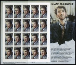 Jimmy Stewart Legends of Hollywood Sheet Of 20 Stamps 41 Cent Stamps Sco... - $11.50