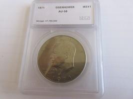 1971 , Eisenhower Dollar , AU , Lot of 10 Coins - $38.61