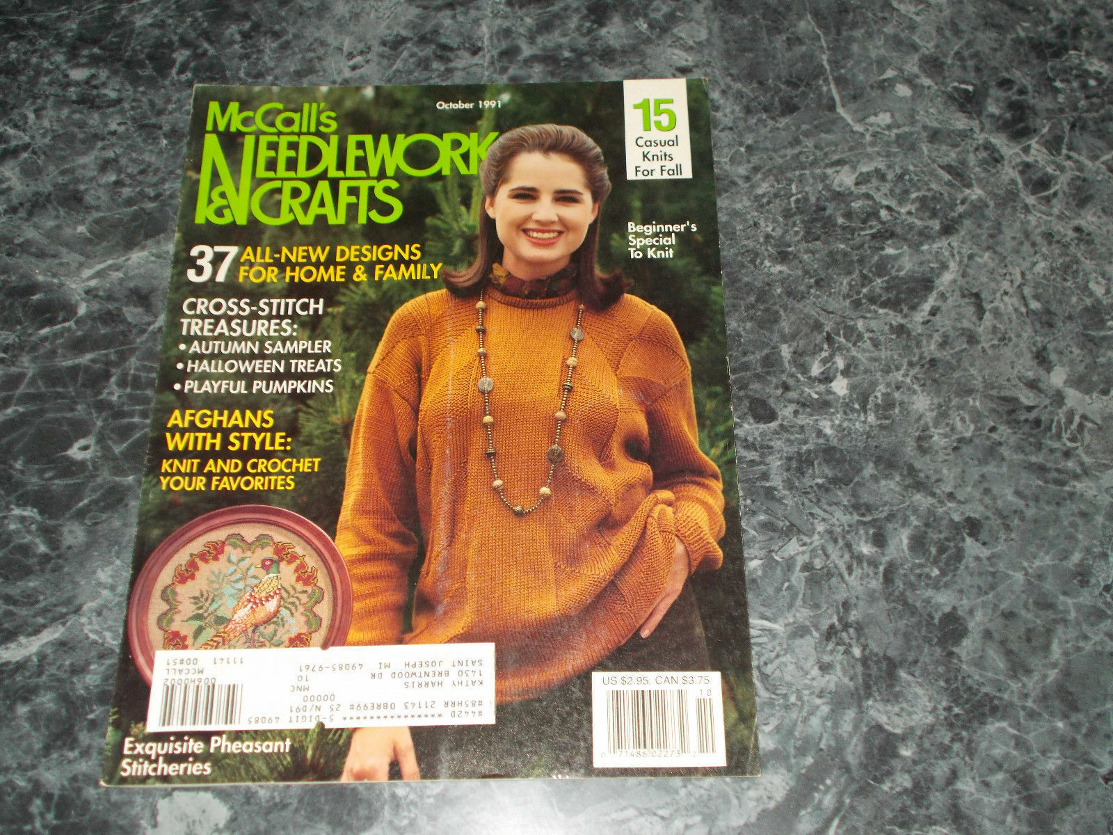 Primary image for Mccall's Needlework & Crafts Magazine October 1991 Autumn Sampler