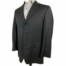 Daniel Cremieux Sport Coat Blazer 40R Black 100% Wool 3 Button Jacket Fr... - $24.70