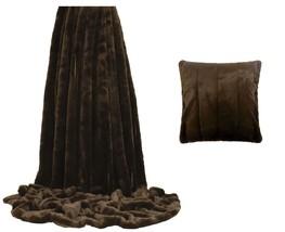fausse fourrure chocolat marron rayé couverture 140 x 200cm & 45.7CM - $75.70