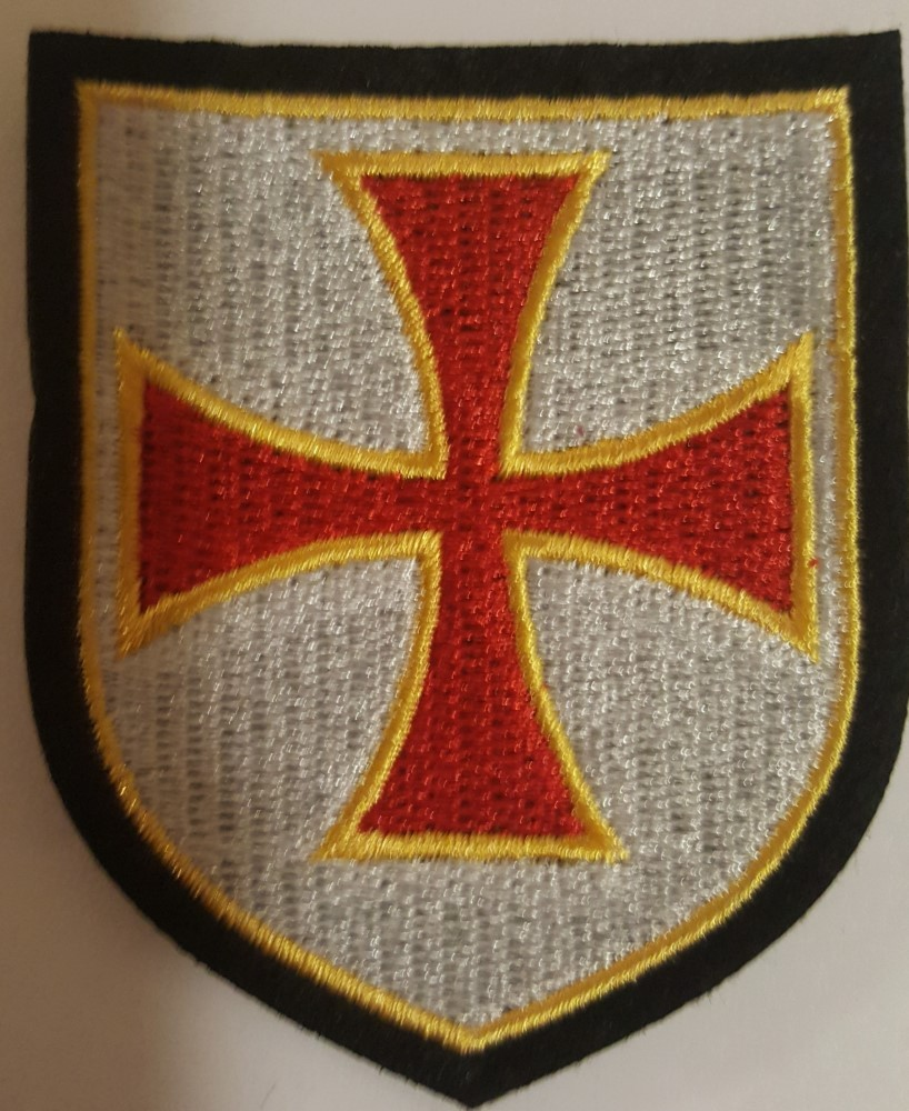 Knight Templar Christian Cross Patch
