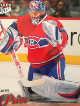 Carey Price Fleer Ultra Hockey Card #33 - $14.71