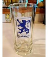 "Vintage 6"" Lowenbrau Glass Beer Stein / Mug - Blue Logo on White Background - $14.84"
