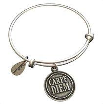 Bella Ryann Carpe Diem Silver Charm Bangle Bracelet