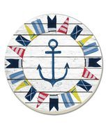 Nautical Sea Life Stoneware Coaster Set - £5.09 GBP