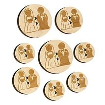 Bride and Groom Wedding Wood Buttons for Sewing Knitting Crochet DIY Craft - Lar - $9.99