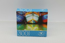 NEW 300 Piece Jigsaw Puzzle Cardinal Sealed 14 x 11, Fishing Boats - $4.45